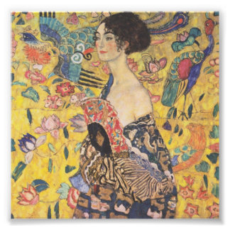 Gustav Klimt Lady With Fan Print Photographic Print