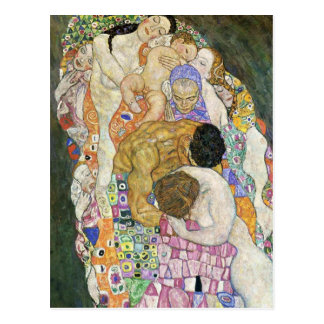 Gustav Klimt Life and Death Postcard