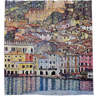 Gustav Klimt - Malcesine at Lake Garda Italy Shower Curtain