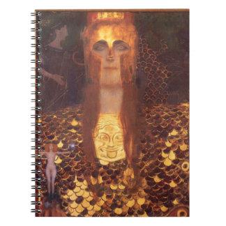 Gustav Klimt Minerva Pallas Athena Spiral Notebook