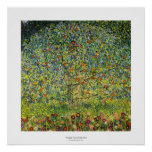 Gustav Klimt painting art nouveau The Apple Tree Poster