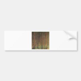 Gustav Klimt - Pine Forest Bumper Sticker