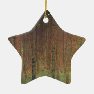 Gustav Klimt - Pine Forest Ceramic Ornament