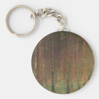 Gustav Klimt - Pine Forest Key Ring