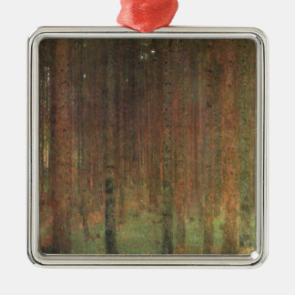 Gustav Klimt - Pine Forest Metal Ornament