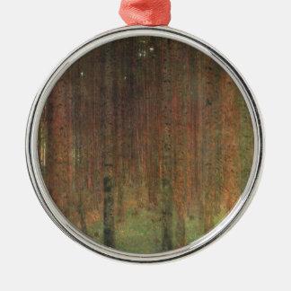 Gustav Klimt - Pine Forest Metal Ornament