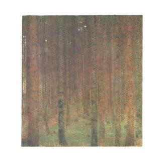 Gustav Klimt - Pine Forest Notepad