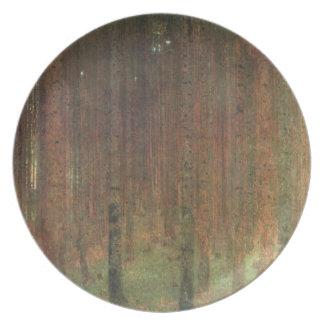 Gustav Klimt - Pine Forest Plate