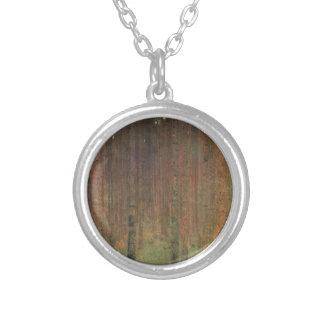 Gustav Klimt - Pine Forest Silver Plated Necklace