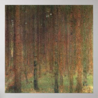 Gustav Klimt - Pine Trees, 1902 Poster