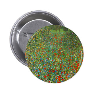 Gustav Klimt Poppy Field Button