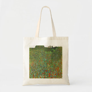 Gustav Klimt Poppy Field Budget Tote Bag