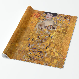 Gustav Klimt Portrait of Adele GalleryHD Gift Wrapping Paper