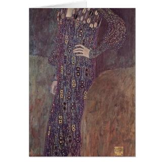 Gustav Klimt- Portrait of Emilie Flöge Card
