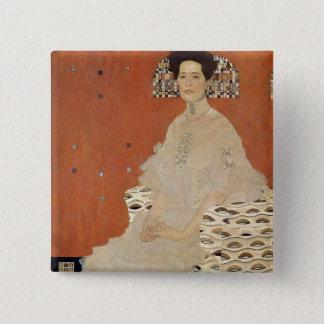 GUSTAV KLIMT - Portrait of Fritza Riedler 1906 15 Cm Square Badge