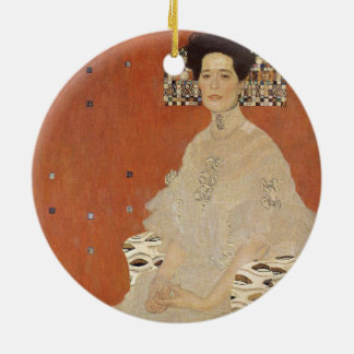 GUSTAV KLIMT - Portrait of Fritza Riedler 1906 Ceramic Ornament