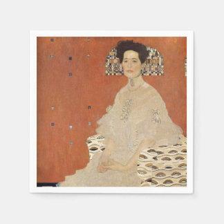 GUSTAV KLIMT - Portrait of Fritza Riedler 1906 Disposable Napkin