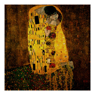 Gustav Klimt Poster The Kiss
