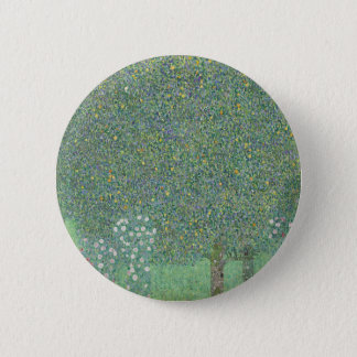 Gustav Klimt - Rosebushes under the Trees Artwork 6 Cm Round Badge