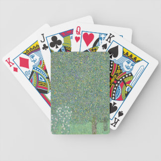 Gustav Klimt - Rosebushes under the Trees Artwork Bicycle Playing Cards