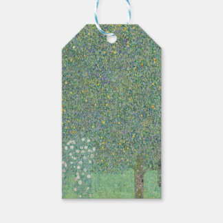 Gustav Klimt - Rosebushes under the Trees Artwork Gift Tags
