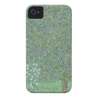 Gustav Klimt - Rosebushes under the Trees Artwork iPhone 4 Case