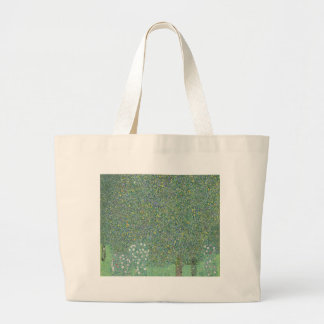 Gustav Klimt - Rosebushes under the Trees Artwork Large Tote Bag