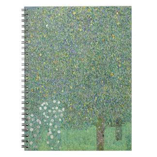Gustav Klimt - Rosebushes under the Trees Artwork Notebook