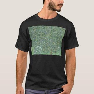 Gustav Klimt - Rosebushes under the Trees Artwork T-Shirt