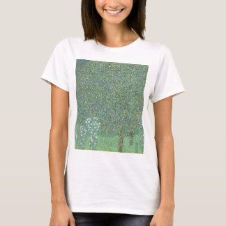 Gustav Klimt - Rosebushes under the Trees Artwork T-Shirt