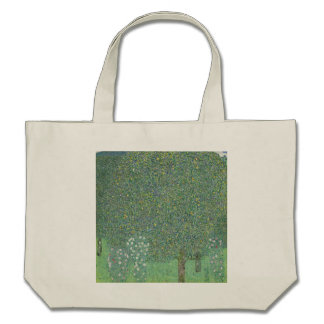 Gustav Klimt - Rosebushes under the Trees Canvas Bag