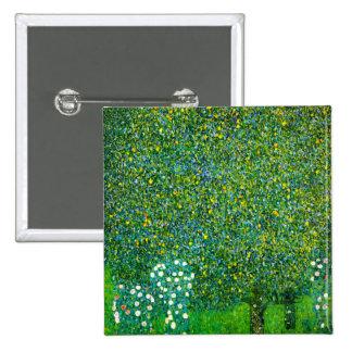 Gustav Klimt Roses Under The Pear Tree Button