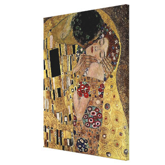 Gustav Klimt s The Kiss Detail circa 1908 Gallery Wrapped Canvas
