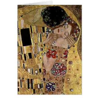 Gustav Klimt s The Kiss Detail circa 1908 Cards
