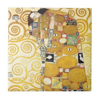 Gustav Klimt Sleeping Lady Ceramics Small Square Tile