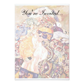 Gustav Klimt - The Baby Cradle - Newborn 13 Cm X 18 Cm Invitation Card