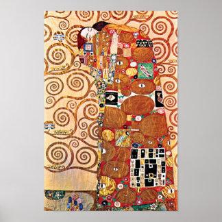 Gustav Klimt - The Embrace - Fine Art Painting Poster