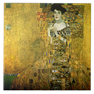 Gustav Klimt The Golden Lady Ceramics Ceramic Tile