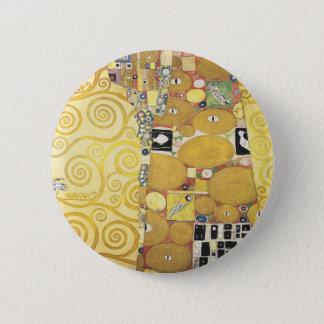 Gustav Klimt - The Hug - Classic Artwork 6 Cm Round Badge