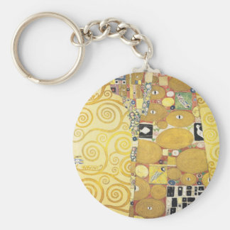 Gustav Klimt - The Hug - Classic Artwork Key Ring