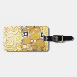 Gustav Klimt - The Hug - Classic Artwork Luggage Tag