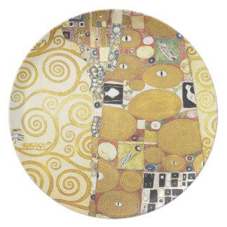Gustav Klimt - The Hug - Classic Artwork Plate