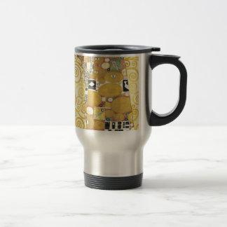 Gustav Klimt - The Hug - Classic Artwork Travel Mug