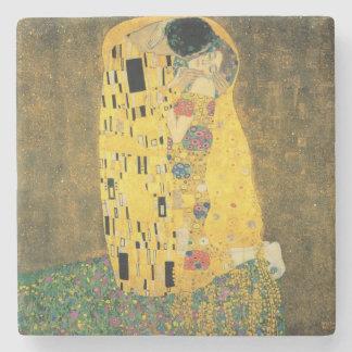 GUSTAV KLIMT - The kiss 1907 Stone Beverage Coaster