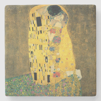 GUSTAV KLIMT - The kiss 1907 Stone Coaster