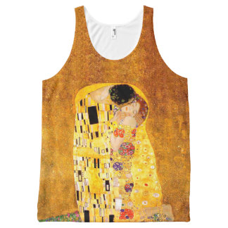 "Gustav Klimt ""The Kiss"" All-Over Print Singlet"