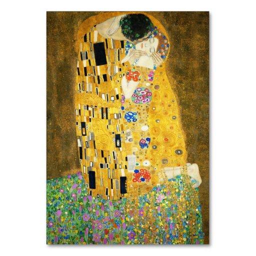 Gustav Klimt The Kiss Art Nouveau Table Cards