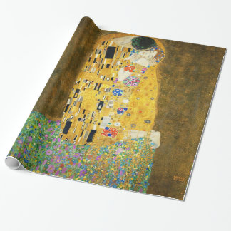 Gustav Klimt The Kiss Art Nouveau Gift Wrap