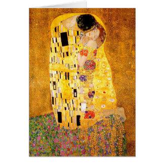 "Gustav Klimt ""The Kiss"" Card"