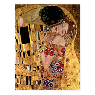 Gustav Klimt: The Kiss (Detail) Postcard